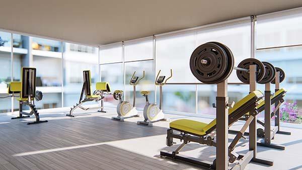 Gimnasio Apartamentos Aruba 600px