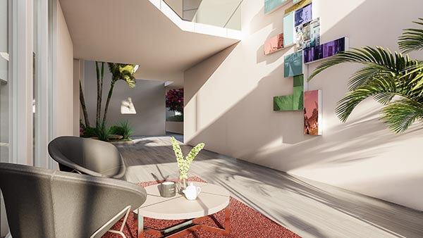 Lobby apartamentos en venta